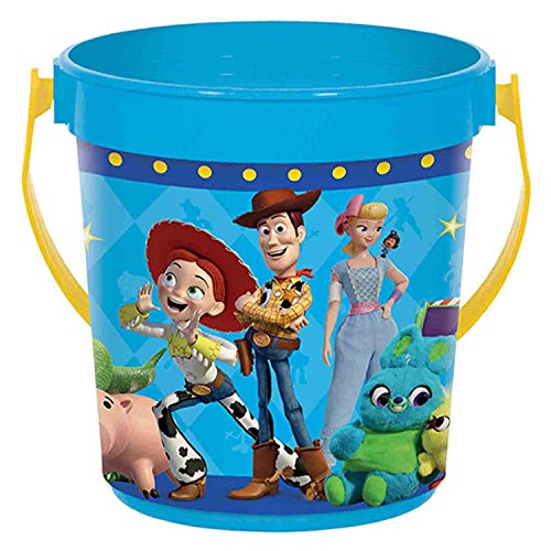 """""""Toy Story 4"""" Blue Party Favor Container, 4 7/8"""" H x 4 3/8"""" D"""