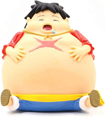 marca famosa Anime Personaje-DUDDP Modelo de una Sola Pieza Pieza Pieza Modelo de edición Enorme Grasa Lufei Hucha Modelo de Hucha Colección de Regalos Decoración Niños Adultos Juguete Artesanía 12 cm Estatua cómica  Obtén lo ultimo