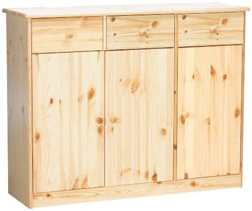 Steens Group Mario dressoir massief grenen 89 x 115 x 35 cm Bois Naturel Verni