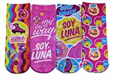 Disney Soy Luna Medias niños, calcetines coloridos en paquete de 4 para niñas (23/26)