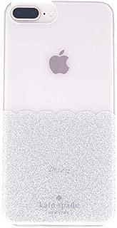 Kate Spade Silver Glitter Scallop Protective Case for iPhone 8 Plus,7 Plus, 6Plus