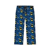 Batman Pantalones de pijama para hombre. azul y amarillo M