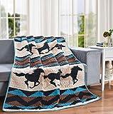 LL Home Wild Quilt Decorative Throw Blanket, (60'x50'), Southwest Horse