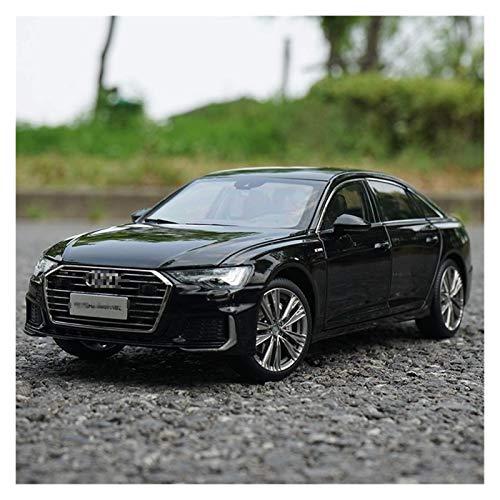 Modelo Coche 1/18 para Audi para A6 para A6L 2019 Diecast Car Vehicle Modelo Boy Boy Collection Black White Gold Casting Modelo de Coche para Niños Regalo (Color: Blanco) jianyou ( Color : Black )