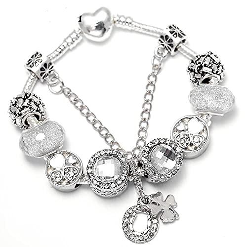 Pulsera con dijes DIY de estilo primaveral con bonitas cuentas, cadena de serpiente, pulsera fina para mujer, regalo de joyería