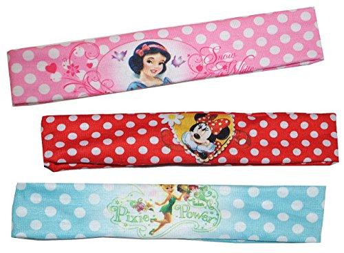 alles-meine.de GmbH 3 Stück: Haarband / Stirnband / Kopfband - für Mädchen / Kinder - Minnie Mouse - Hello Kitty - Princess Prinzessinnen - Fairy Tinkerbell - Schmuck Haarschmuck..