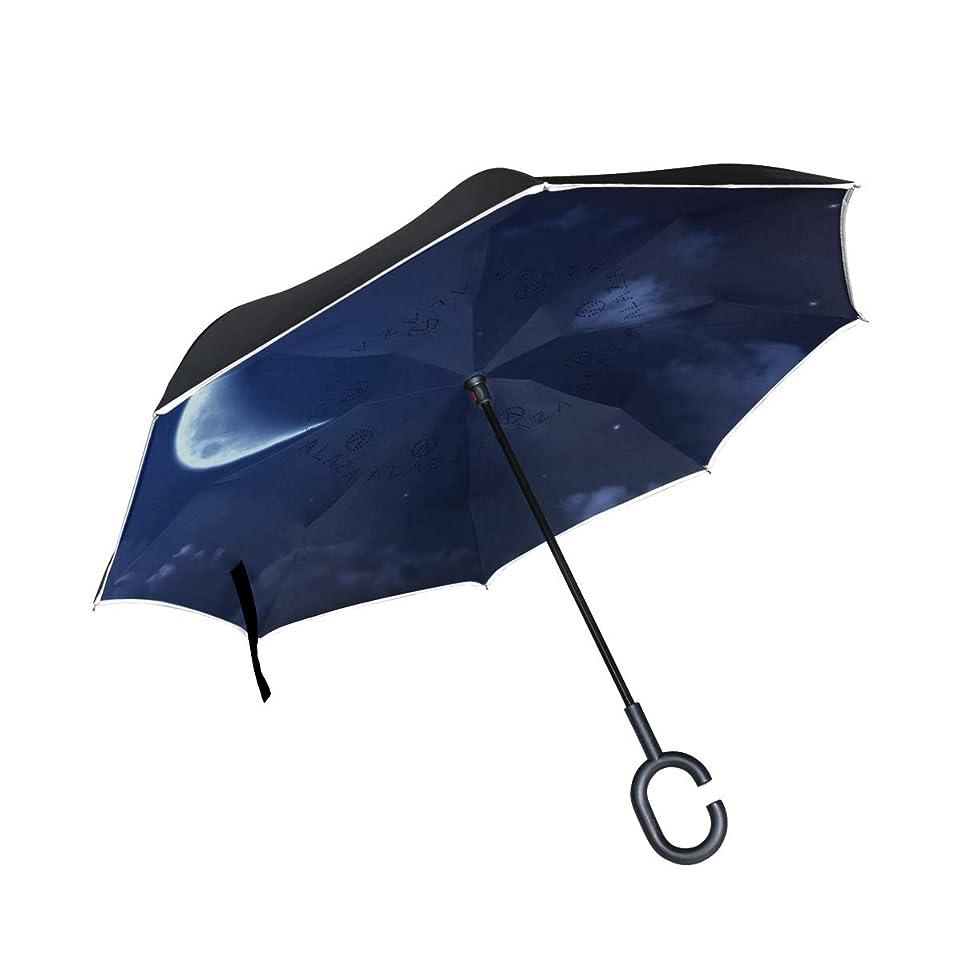 効能ある借りる精巧なSUKAU 逆さ傘 風景 夜空 空柄 逆折り式傘 日傘 逆転傘 長傘 自立傘 晴雨兼用 UVカット 遮光遮熱 撥水加工 耐風 手離れC型手元 ビジネス用 車用 124センチ