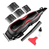 JALIYA Adjustable Electric professional corded hair clipper 12W AC220- V with 4 attachment Comb...