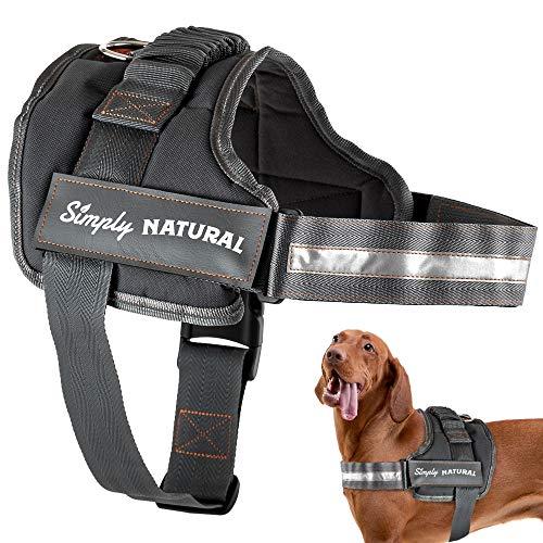 Hundegeschirr von Simply Natural Mittleres Ausbruchsicheres Hundegeschirr Mit Leicht Verschließbaren Klettverschlüssen – Starkes Superweiches Hundegeschirr