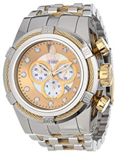 Jason Taylor for Invicta Collection 12952 BOLT Zeus Chronograph Mother-Of-Pearl Dial Stainless Steel Watc image