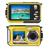 Cámara submarina para Snorkel 24,0 MP Impermeable cámara Digital Flotador Full HD 1080P Doble Pantalla Resistente al Agua cámara de acción