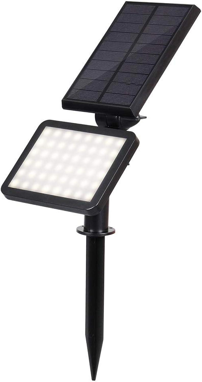 WngLei 48 LED Solarstraenlaterne im Freien Wasserdichte Stecker Licht Rasen Licht Garten Garten Scheinwerfer (Farbe   Weiß)