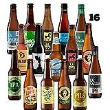 Pack de 16 cervezas artesanas Rubias. Las mejores cerveceras. El mejor regalo. Incluye Granada Beer Co Cream Ale, medalla de Oro en Barcelona Beer Challenge 2020 categoríaSTANDARD AMERICAN BEER