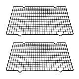 Komake 2 rejillas de refrigeración para tartas, de acero inoxidable, para enfriar galletas y pasteles de forma uniforme y rápida (25 x 40,5 x 2 cm)