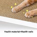 Likea Griffoir inclinable pour chat avec herbe à chat en carton de qualité supérieure, plusieurs angles de griffage pour correspondre aux préférences de votre chat #2