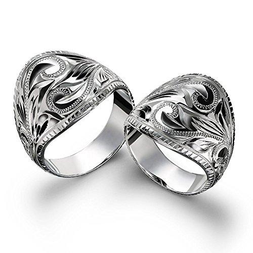 ハワイアンジュエリー ペアリング シルバー925 ボリューミー コインエッジ 指輪 2個セット 【1個目:14号】【2個目:29号】 SR701P-PRIME