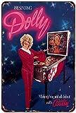 Isaric Blechschild Dolly Parton Bally Pinball Vintage
