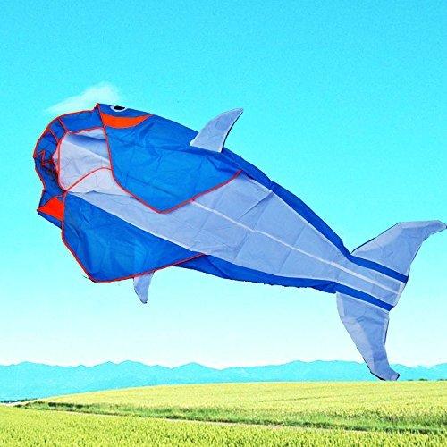 LW Let s Go Fly a Kite! 3D Big Whale Frameless Parafoil Kite Outdoor Beach Park Garden Fun