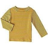 Toddler Boys Girls Long Sleeve Tee Little Kids Cotton T-Shirt Crew Neck Tops,Yellow,3T