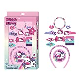 Caja con 14 accesorios pelo y bisuteria de Hello Kitty