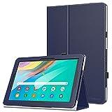 MoKo Funda Compatible con Samsung Galaxy Tab Advanced2 T583 10.1', PU Cuero Ultra Slim Función de Soporte Plegable Smart Cover Stand Case para Samsung Galaxy Tab Advanced2 T583 10.1' - Índigo