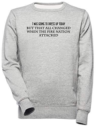 Then The Fire Nation Attacked Unisexe Homme Femme Sweat-Shirt Gris Unisex Men's Women's Jumper
