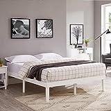 Naomi Home Isabella Wood Platform Bed Queen/White