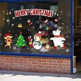 Etiqueta de la pared de Navidad Pingüino animal de dibujos animados Decoración navideña Decoración de la etiqueta de vidrio de la sala de estar El tamaño de la imagen es solo para referencia