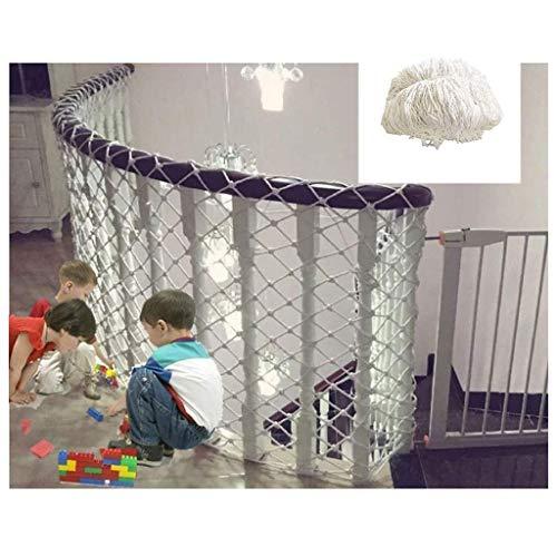 YXB Child Safety Net Wit constructie hek netwerk, outdoor kinderen klimnet, interieur netto, balkon trap anti-val net, site isolatie net hangmat schommel 1 * 3m/1 * 9m touwnet 2