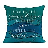 XCNGG Funda de Almohada Linen Throw Pillow Cover Case Calm Contemporary Decorative Pillow Cases Covers Home Decor Square 20 X 20 Inches Pillowcase...