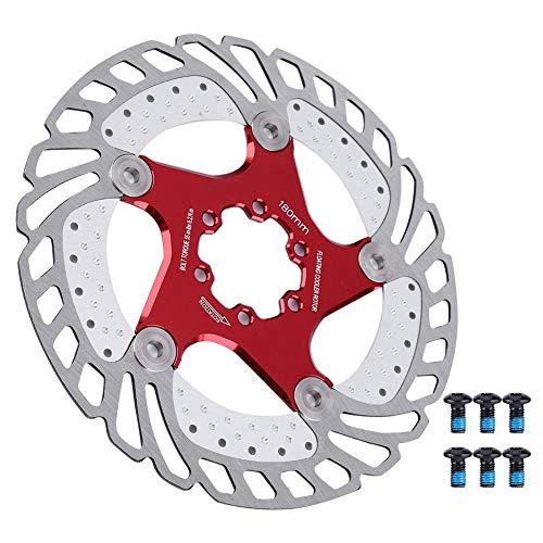Outbit Rotor de enfriamiento de Bicicleta-Acero Inoxidable Bicicleta Bicicleta Disco Freno Refrigeración Rotor Flotante(140mm)