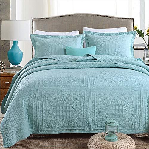 3-Teilige Tagesdecke Bettdecken Aus 100prozent Baumwolle, Ganzjahres-Premium-Jacquard-Bettwäsche Aus Baumwolle, Kingsize-Bettdecke Aus Damast Ultra Soft Microfiber Bed Quilts Steppdecke,8,230*250cm