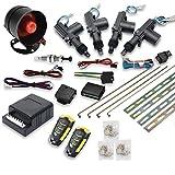 MASO - Kit de Bloqueo Central para Coche, 4 Puertas, Sistema de Entrada sin Llave + Sistema de inmovilizador de Alarma...