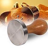 Manomission für Macchina, 58 mm, Durchmesser Grip aus Edelstahl, Basis der Griff Bean Barista Espresso Tamper Zubehör für Küche