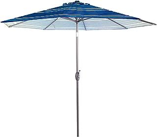 Abba Patio 11-Feet Patio Umbrella Outdoor Table Market Umbrella with Push Button Tilt and Crank, Blue Striped