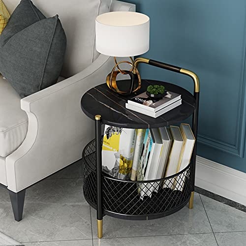 HLSUSAN Unique Stylish High Gloss Stainless Steel Small Side Table or Coffee Table Perfect For your Living Room and Bedroom,B1