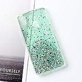 KABIOU Bling Glitter Phone Case for Vivo Y11 Y19 2019 Y15 Y17 Y12 V11 V15 X23 X27 S1 Pro X21 S5 U20 Y9S Y5S Y75 Y79 Y83 Y85 Y91 Y93 Y97 Cover,Green 004,Vivo V7 Plus (Y79)