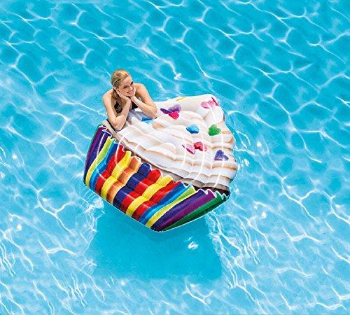 Matratze - aufblasbarer Cupcake / Kinderbadeartikel / aufblasbares Reittier / aufblasbare Badetiere / aufblasbare Badeartikel für Kinder