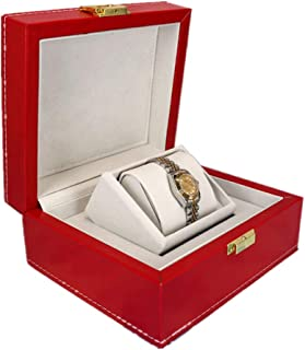 Premium Watch/Bangle Pillow Case Birthday Gift Party Jewelry Storage Box(Red one Size)