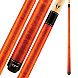 """Viking Valhalla 100 Series No Wrap 2 Piece 58"""" Pool Cue Stick (18oz, Autumn Orange)"""