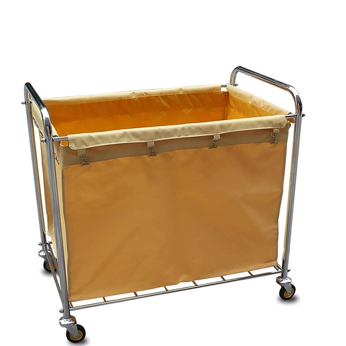 貞明示的にアダルトクリーニングのトロリー - 大容量の洗濯機の選別機のカート、ステンレス鋼フレーム/無声圧延車輪