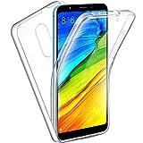 Miagon Coque pour Xiaomi Redmi Note 4X/Note 4,360 Degres Transparent Silicone Avant et Dur Arrière...