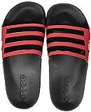 Adidas Adilette Shower Stripes, Chanclas Hombre, Core Black/Scarlet, 39 EU