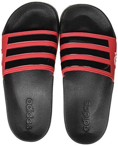 adidas Herren Adilette Shower Slide Sandal, Core Black/Scarlet/Core Black, 42 EU