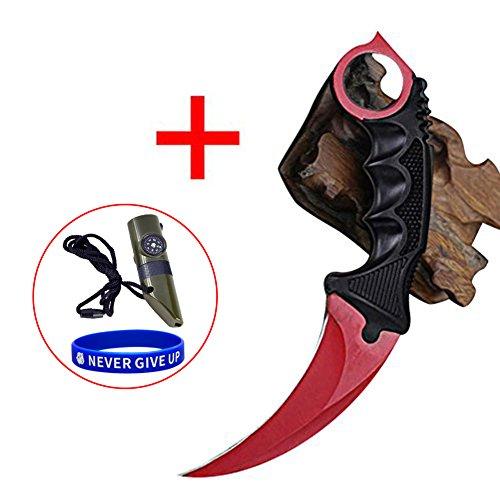 SWAMPLAND Karambit Jagdmesser Streik-Greifer-Messer taktisches Überlebens-Werkzeug Camping Messer,Rote