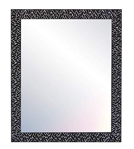 Chely Intermarket - Espejos de Pared Cuerpo Entero 50x70cm (58x78cm) Negro-Plateado   Mod-156   Variedad de TAMAÑOS   Ideal para salón, recibidor, Comedor, Dormitorio y decoración.(156-50x70-2,80)