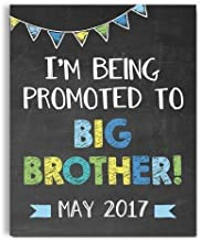 Big Brother Pregnancy Announcement Art Print   Pregnancy Announcement Sign   Baby Announcement Photo Prop   Big Brother Sign   New Baby Sign