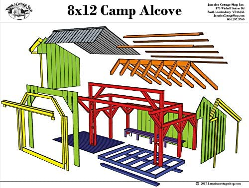 Step-By-Step DIY Free shipping New PLANS Regular discount - Timber Frame Adirondack Beam L Post and