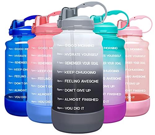 Elvira Large 1 Gallon/128 oz Motivational Time Marker Water...