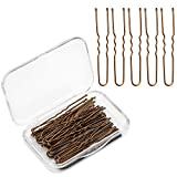 AIEX 200pcs U Shaped Hair Pins Kit Hair Clips Bobby Pins Hair Clips for Women Girls and Hairdressing Salon(Bronze)